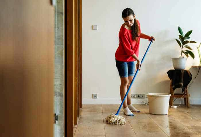 People who have clean homes tackle one job at a time