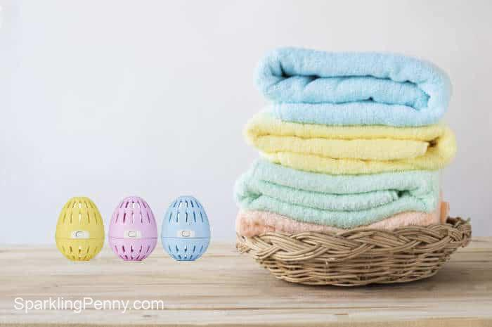 ecoeggs and soft towels