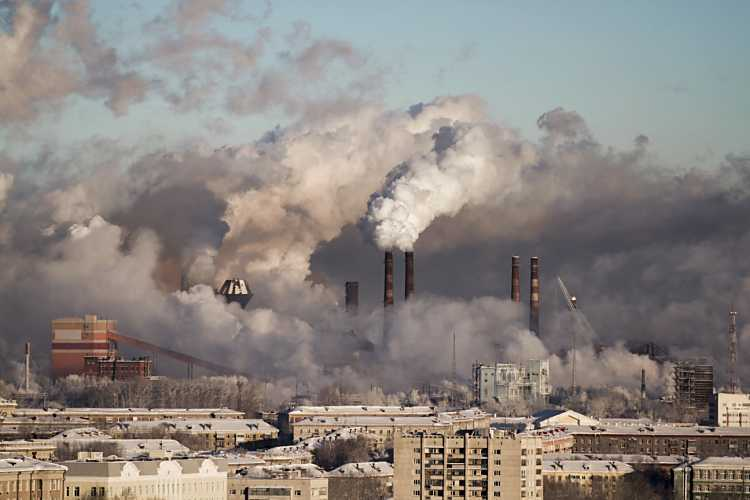 industry burning fossil fuels