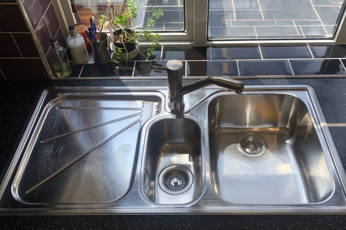 how to make a stainless steel sink look new