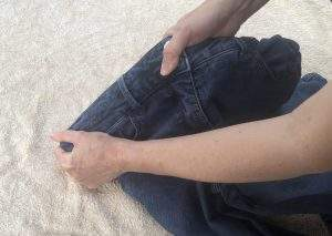stretching jeans at the waist