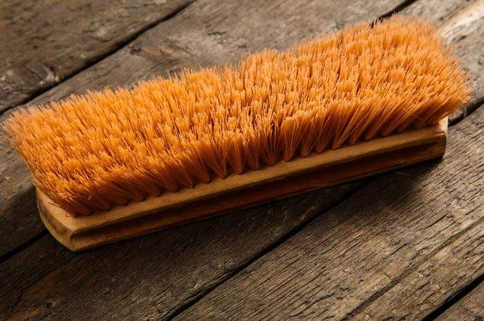 cleaning ingrained dirt from wood