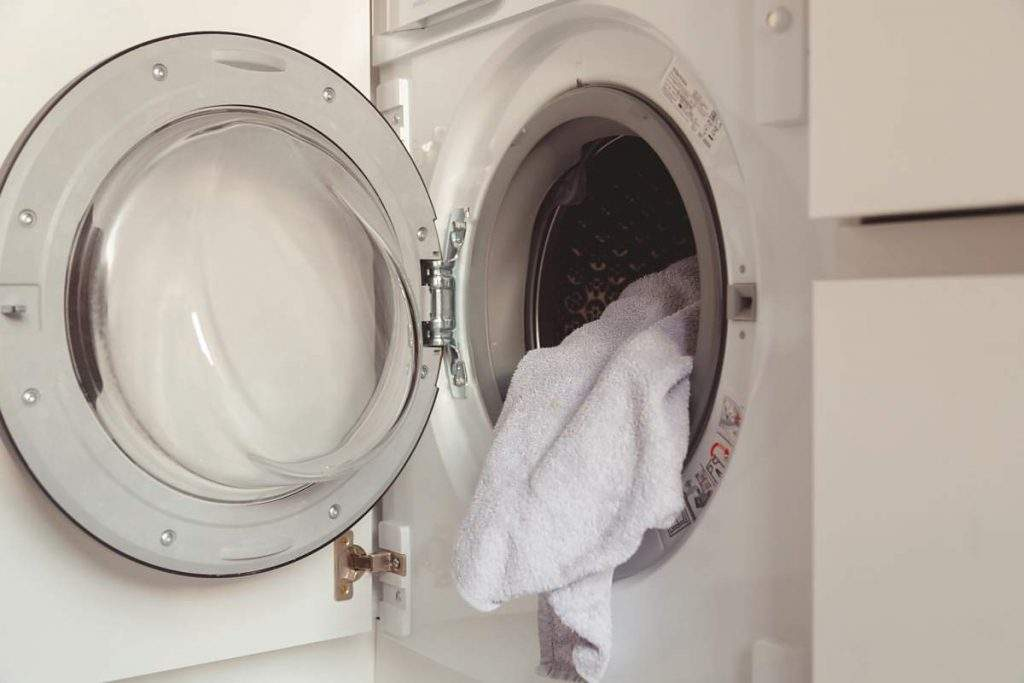 laundering white towels